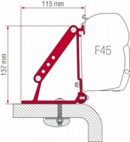 Fiamma F45 Awning Adapter Kit - Kit Roof Adapter