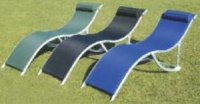 Lucia Folding Sun Lounger - Blue