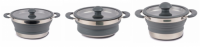 Kampa Dometic Collapsible Folding Saucepan (Grey)