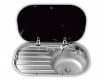 Dometic Smev 8306 Sink & Drainer with Glass Lid