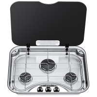 Spinflo 3 Burner Hob With Glass Lid