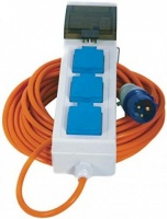 Crusader Mains Supply With 3 Sockets & 20m Cable
