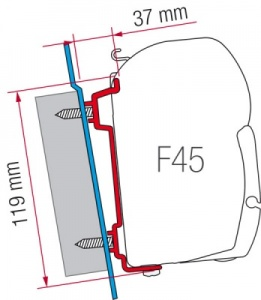 Fiamma F45 Awning Adapter Kit - Transit (High Roof)