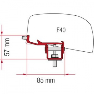 Fiamma F40 Awning Adapter Kit - Nissan NV350