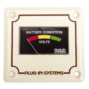 Plug-in-systems Battery Condition Meter Voltmeter - Beige