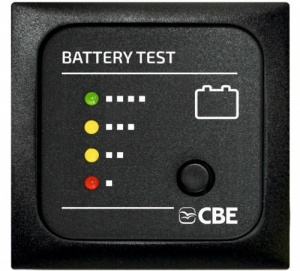 CBE 12v Battery Test Meter Panel