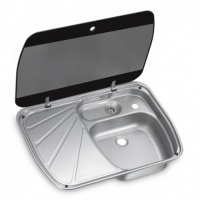 Dometic SNG 6044 Sink And Drainer With Glass Lid