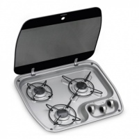 Dometic HBG 3445 3 Burner Hob With Glass Lid