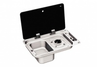 Can FL1324 - 1 Burner Combination Unit with Glass Lid