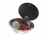 Can LR1450 Oval Sink With Glass Lid And Cold Tap