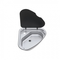 Thetford Series 33 Triangular Sink With Glass Lid