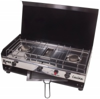 Kampa Cucina Camping Double Burner Gas Hob and Grill Stove