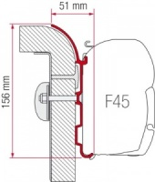 Fiamma F45 Awning Adapter - Burstner