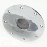 Polished Aluminium Table Leg Base - Recessed