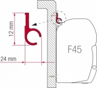Fiamma Adaptor Rail