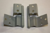 Reimo Style Furniture Hinges (pair) - Mid Grey