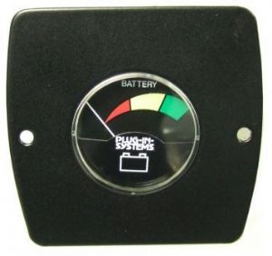 Plug-in-systems Battery Condition Meter Voltmeter - Black